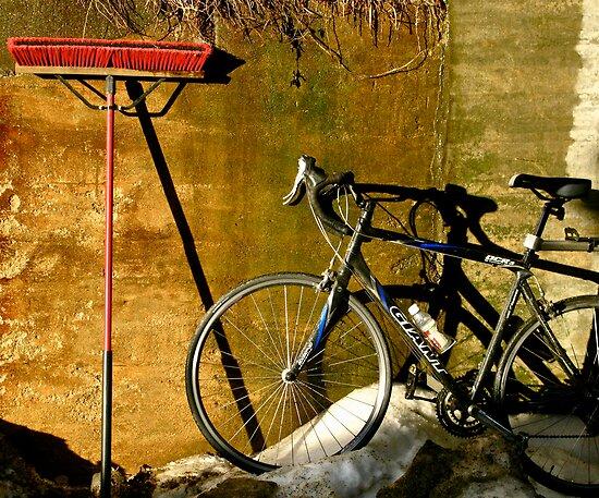 Broom & Bike On Ice by Alvin-San Whaley