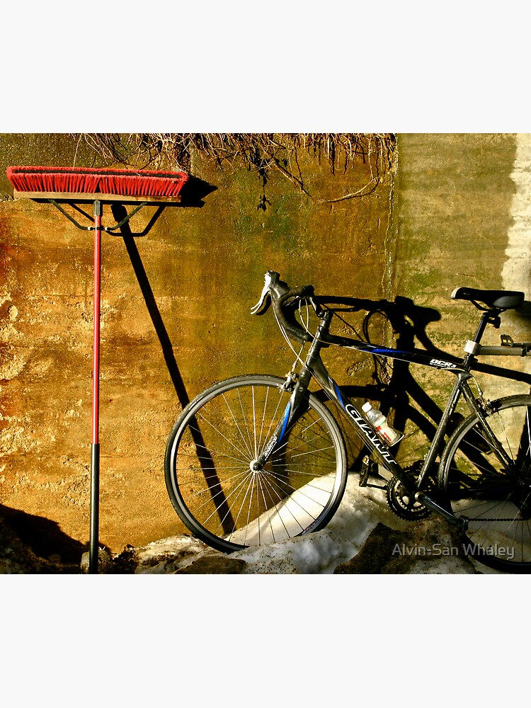 Broom & Bike On Ice by alvinsan9