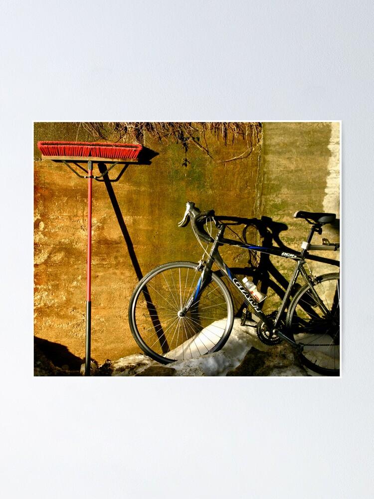 Alternate view of Broom & Bike On Ice Poster