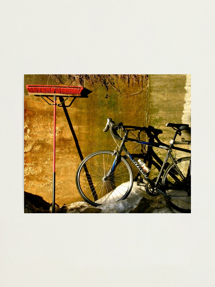 Alternate view of Broom & Bike On Ice Photographic Print