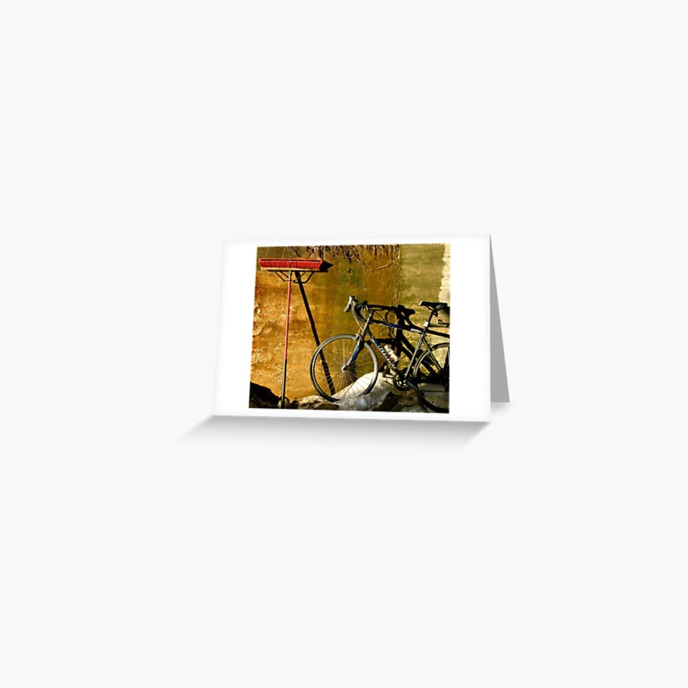 Broom & Bike On Ice Greeting Card