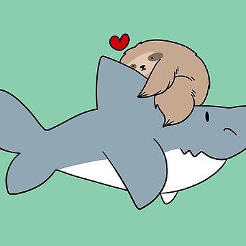 Sloth Loves Shark by SaradaBoru