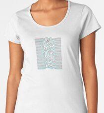 Unknown Pleasures Retro 3D Glasses (Blue & Red) Effect Women's Premium T-Shirt
