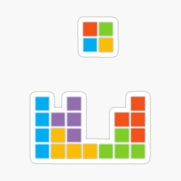 Tetris Microsoft Sticker