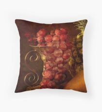 Emperor Grapes Throw Pillow