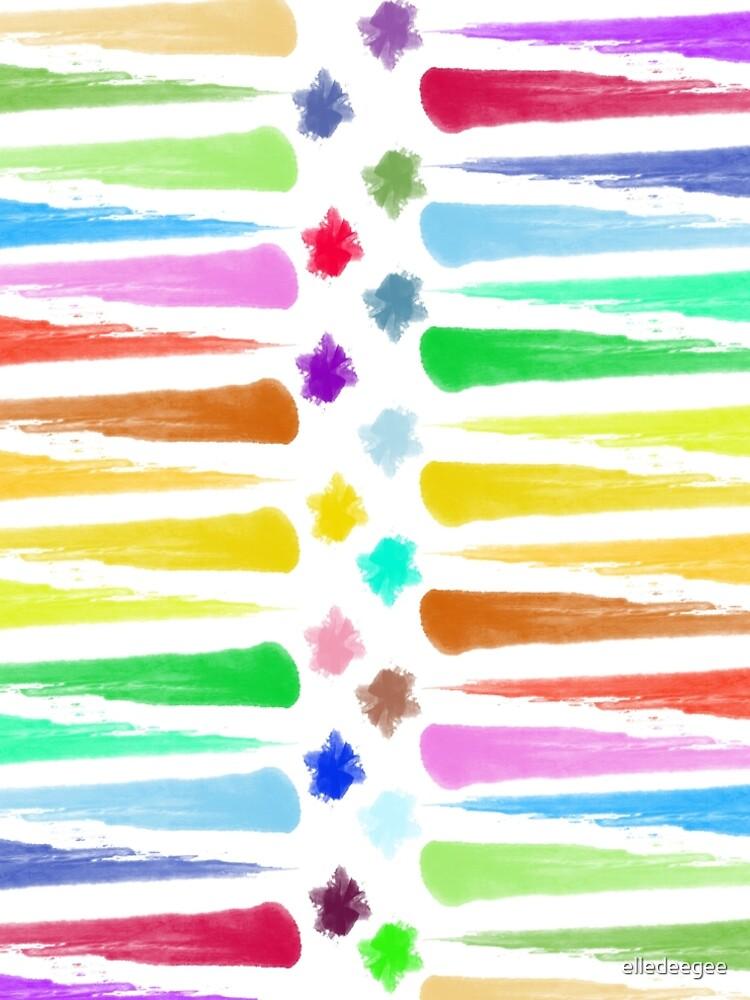 Rainbow Stripes by elledeegee