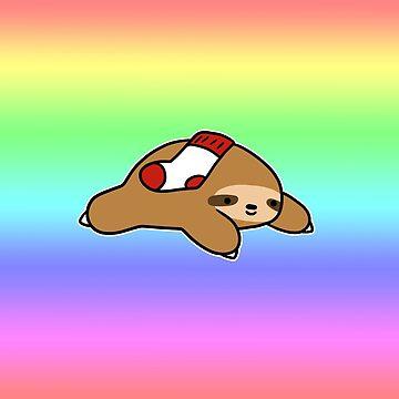 Sock Sloth Rainbow Gradient by SaradaBoru