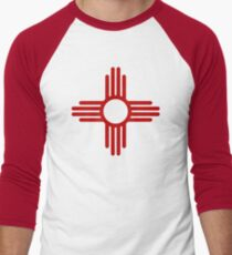 Zia Pueblo Sun Symbol Baseball ¾ Sleeve T-Shirt