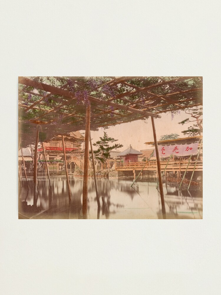 Alternate view of Kameido temple, Tokyo Photographic Print