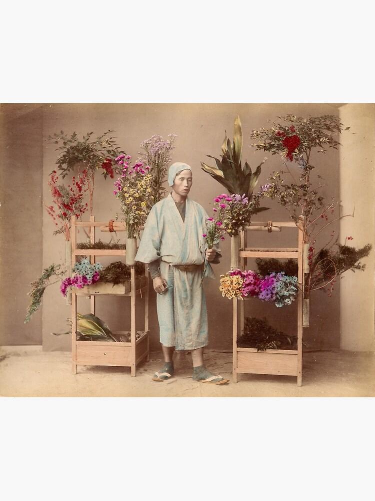 Japanese flower seller by Fletchsan