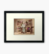 Japanese flower seller Framed Print