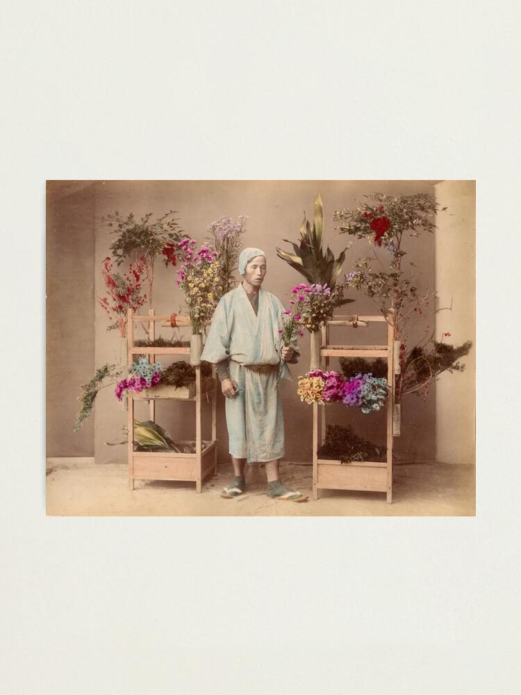 Alternate view of Japanese flower seller Photographic Print