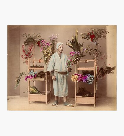 Japanese flower seller Photographic Print