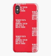 Written and Directed by Guy Ritchie Red/White iPhone Case