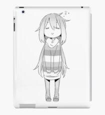 Yuru Camp (Laid-Back Camp) Süßes Nadeshiko-Monochrom iPad-Hülle & Klebefolie