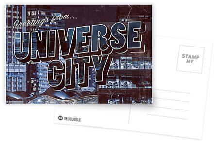 UNIVERSUM CITY Postkarte von anyaquamarine