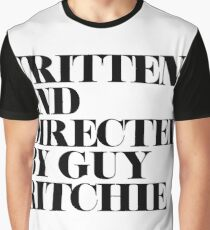 Written and Directed by Guy Ritchie White/Black Graphic T-Shirt