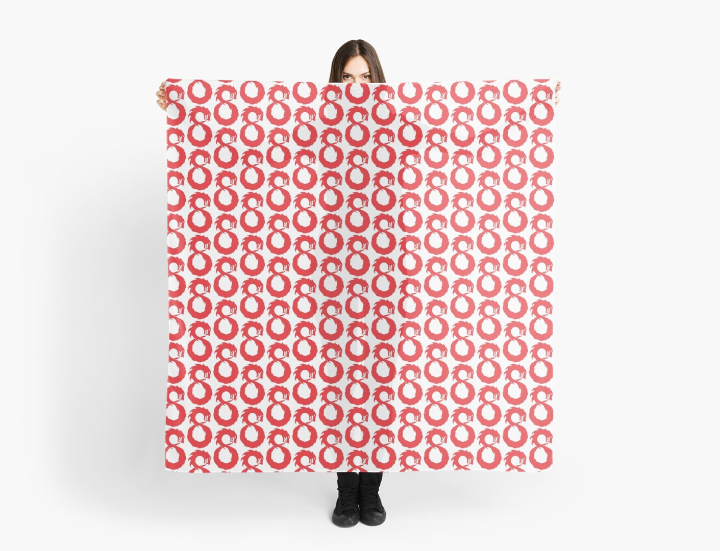 'Lucky Number Eight - The Chinese Infinity Dragon' Scarf by infinitewave