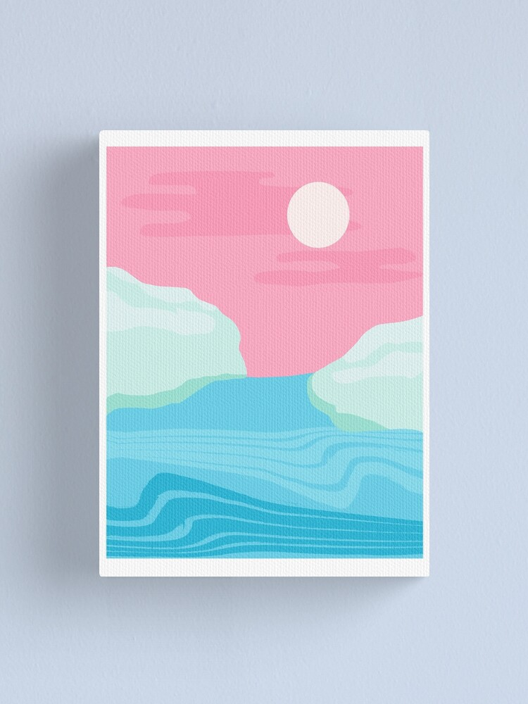 Alternate view of I Kid You Not - throwback travel poster 80s style minimal retro art decor memphis style  Canvas Print