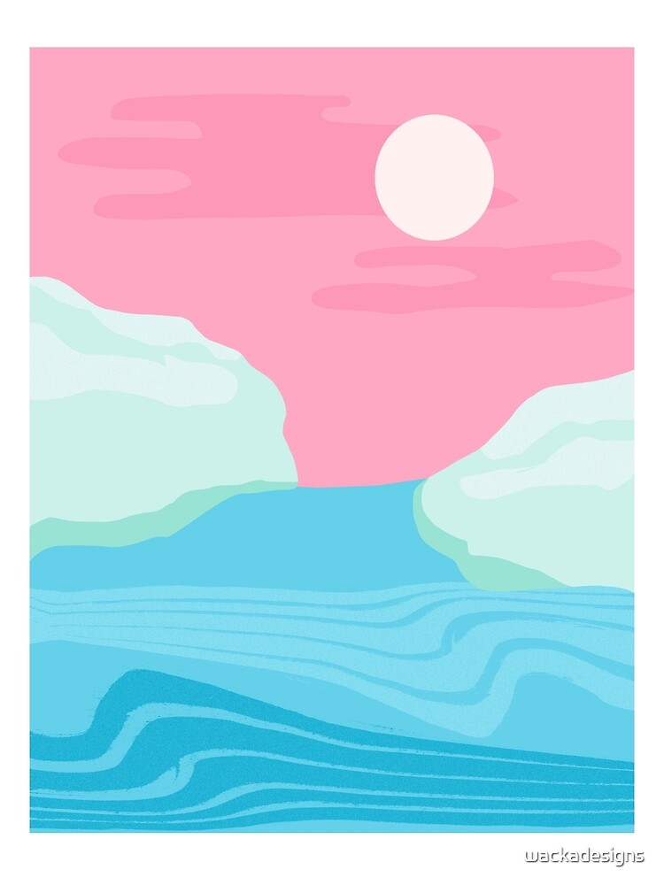 I Kid You Not - throwback travel poster 80s style minimal retro art decor memphis style  by wackadesigns