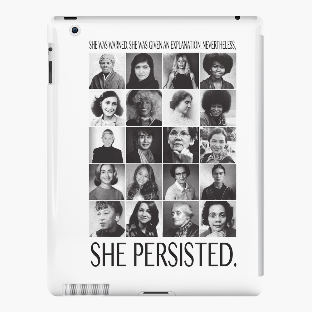 Nevertheless, She Persisted iPad Case & Skin