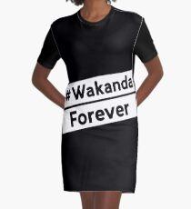 Wakanda Forever Black Version Graphic T-Shirt Dress