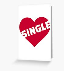 Red single heart Greeting Card