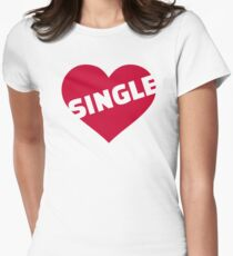 Red single heart Womens Fitted T-Shirt