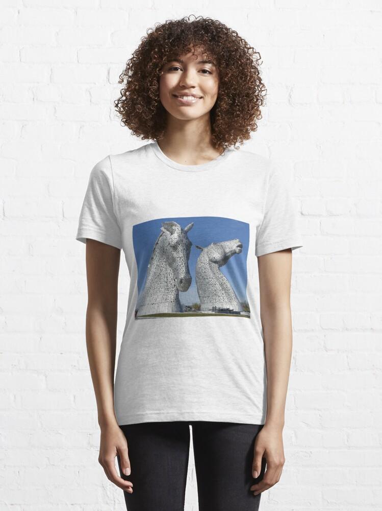 Alternate view of The Kelpies, Helix Park , Falkirk , Scotland Essential T-Shirt