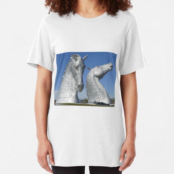 The Kelpies, Helix Park , Falkirk , Scotland Slim Fit T-Shirt