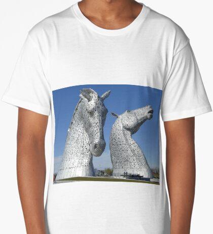 The Kelpies, Helix Park , Falkirk , Scotland Long T-Shirt
