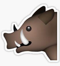 Boar Face Emoji Sticker Sticker
