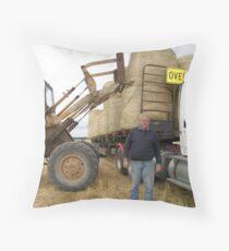 Sending Hay Throw Pillow