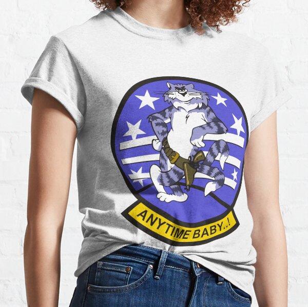 F-14 Tomcat 'Anytime Baby..!' Classic T-Shirt