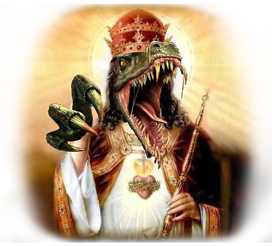raptor jesus photographic prints by maximumlobsters redbubble
