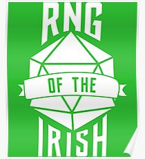 RNG of the Irish - Saint Patrick's Day Nerdy Table Top Shirt Poster