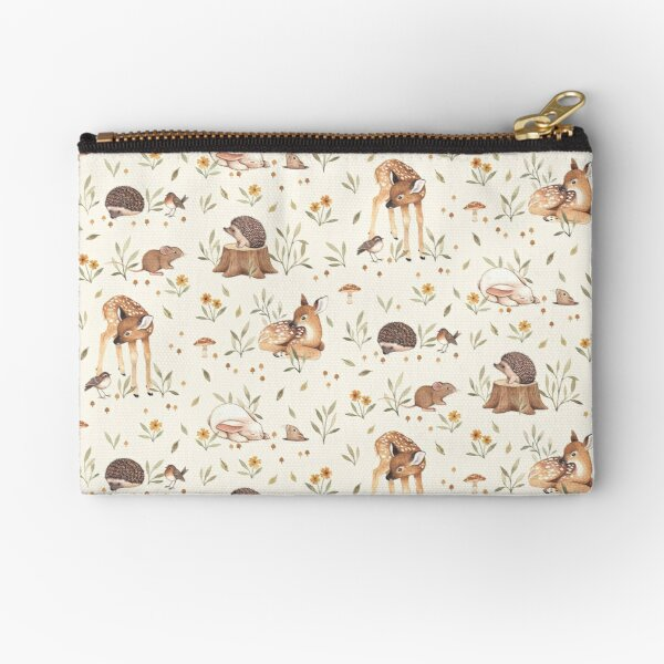 Meadow and Fawn Zipper Pouch