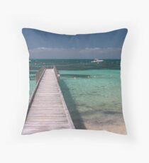 Tompson Bay Jetty Throw Pillow