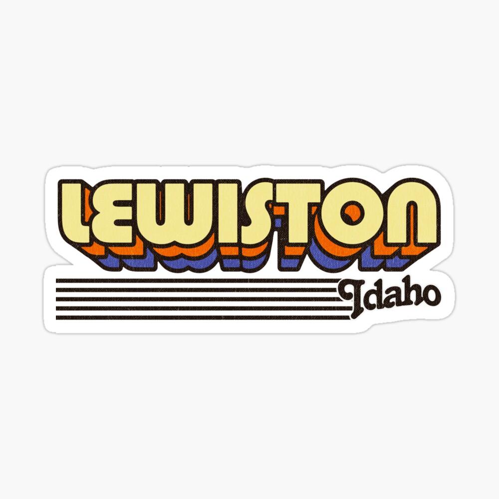 Lewiston, Idaho | Retro Stripes Sticker