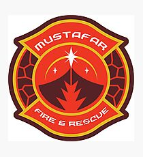 Mustafar Fire & Rescue Photographic Print