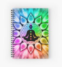 In meditation with Chakras III Spiral Notebook