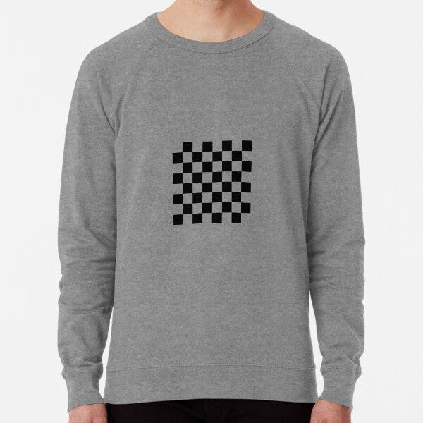 Chess, Chess board, chess, board, chessboard, checkerboard, checker, checkers, chequers Lightweight Sweatshirt