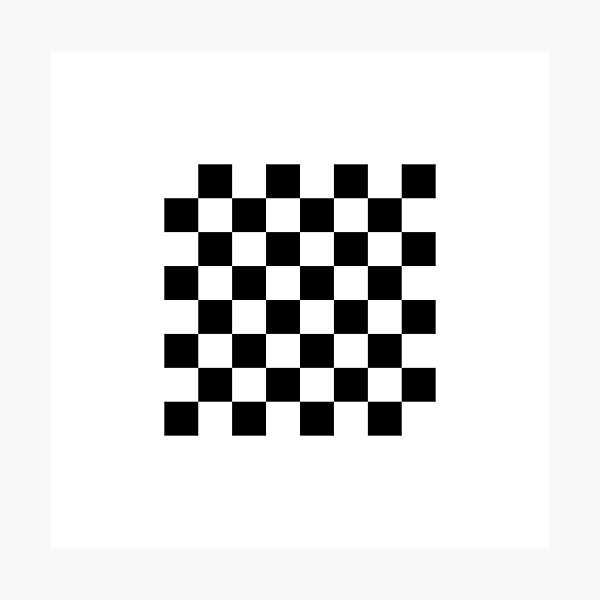 Chess board, chess, board, chessboard, checkerboard, checker, checkers, chequers Photographic Print