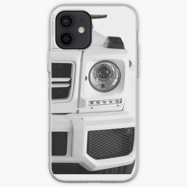 Mercedes-AMG G Class White Left iPhone Soft Case