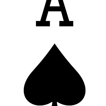 A for ACE, Ace of Spades, Black, Music, Motorbike, Hells Angels, Gang, Gamble, Cards by TOMSREDBUBBLE