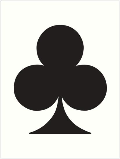 Kreuz Karte.Ace Schwarz Kreuz Club Karten Spiel Anzug Gangs Gamble Kunstdruck Von Tom Hill Designer