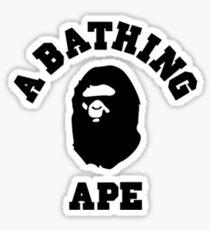 bape a bathing ape logo t-shirt Sticker