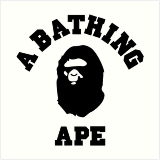 quotbape a bathing ape logo tshirtquot art prints by bsauce1