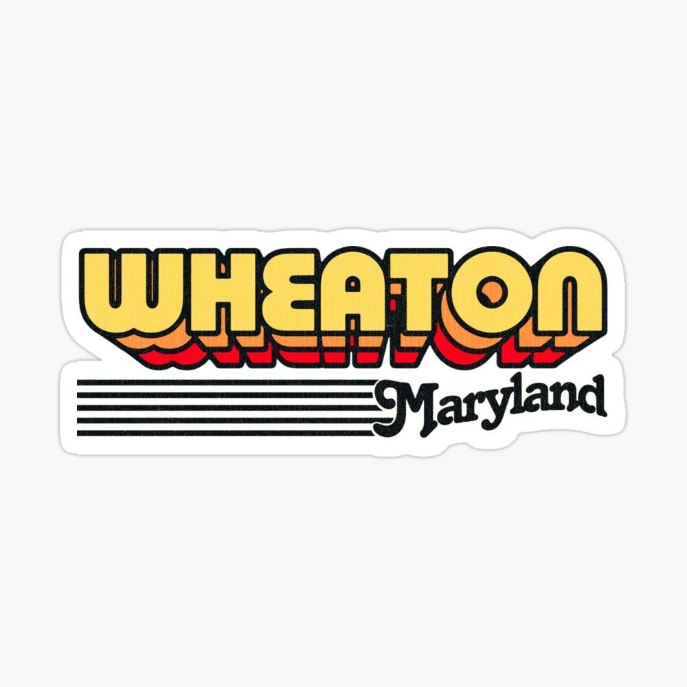 Wheaton, Maryland | Retro Stripes Sticker