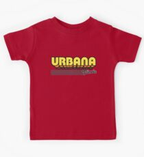 Urbana, Illinois | Retro Stripes Kids Tee